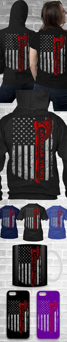 Viking USA Flag Shirts! Click The Image To Buy It Now or Tag Someone You Want To Buy This For.  #vikings