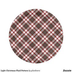Light Christmas Plaid Pattern Paper Plate  sc 1 st  Pinterest & Classic Christmas Plaid Paper Plate | Plaid Classic and Paper