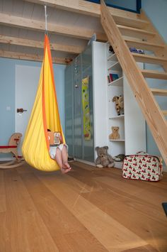 La Siesta JOKI Hanging Nest for Children The colorful children's hanging nest JOKI is made of high-quality cotton and hangs like a cocoon from the ceiling. It comes with a large, comfy cushion and is