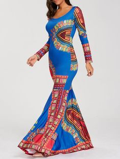 SHARE & Get it FREE | Floor Length Long Sleeve Bohemian Mermaid DressFor Fashion Lovers only:80,000+ Items • New Arrivals Daily • Affordable Casual to Chic for Every Occasion Join Sammydress: Get YOUR $50 NOW!