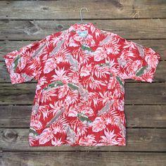 81d477d1 Hot Rods Hawaiian Shirt- Classic Cars- Luau Shirt- Tiki- Hana Bay-