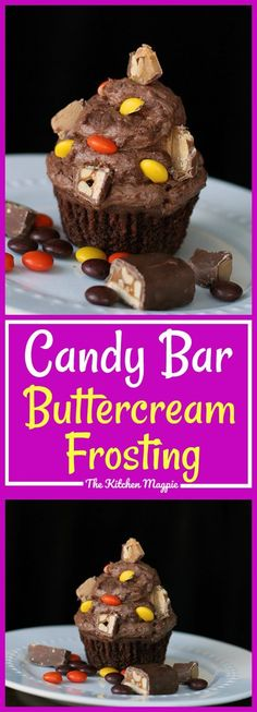 Candy Bar Buttercream Frosting - the best way to use up candy bars!
