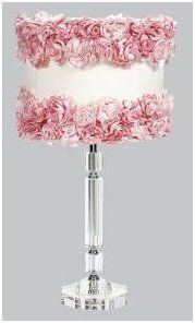 Crystal Rose Garden Slender Lamps