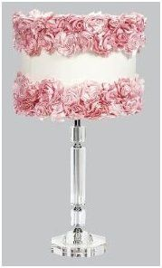 Crystal Rose Garden Slender Lamps