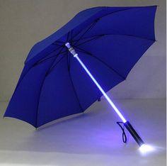 7 Colors Changing!! Cool Light LED Flash Umbrella Night Mini Torch Rain Sun Protective Transparent Umbrella Clear Men Women #Affiliate