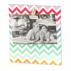 Multi-Colored Chevron Clip Photo Stand | Kirkland's