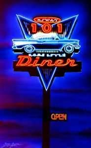 50's diner neon signs