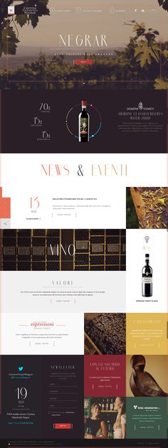 Cantina Negrar Winery by AQuest on http://www.cssdesignawards.com/ #CSSDA. Great video usage and layout of information