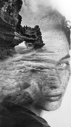 Double Exposure Portraits by Antonio Mora ile ilgili görsel sonucu Double Exposition, Creative Photography, Portrait Photography, Levitation Photography, Surrealism Photography, Water Photography, Urban Photography, Color Photography, Photo Hacks