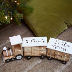 Are you interested in our Alternative Advent Calendars? With our Personalised Wooden Train Advent Calendar you need look no further. Wooden Christmas Crafts, Wooden Christmas Decorations, Christmas Projects, Christmas Ideas, Christmas Stuff, Christmas Shopping, Holiday Ideas, Advent Calander, Fabric Advent Calendar