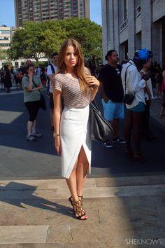 Fashion Week street style looks: Xenia Tchoumitcheva