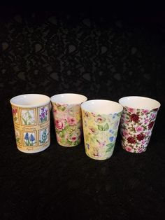 CROWN TRENT Fine Bone China Cups, Staffordshire England, FLORAL Chintz, Rose, Morning Glory, Birthday Tea Party, Coffee Mug, Priced per Cup Tea Party Birthday, Different Flowers, Tea Sets, Months In A Year, China Dinnerware, Bone China, Red Roses, Bones, Coffee Mugs