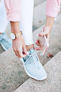Work-out shoes can be the perfect addition to your style-chic outfit.