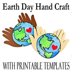 Earth Day Hand Craft Using Black Glue - Printables 4 Mom Earth Craft, Earth Day Crafts, Cute Crafts, Crafts To Make, Crafts For Kids, Infant Activities, Craft Activities, Cutting Activities, Earth For Kids