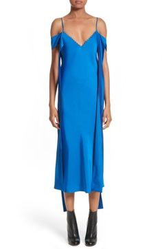 Ellery Woman Cold-shoulder Draped Faille Midi Dress Cobalt Blue Size 8 Ellery AAIDPLM2