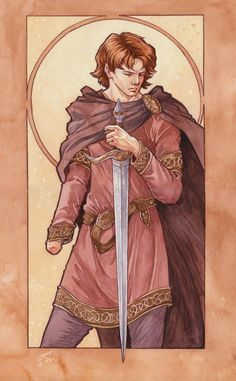Maedhros the Tall, watercolour, 2010 | Jenny Dolfen's Blog