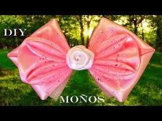 DIY Moños Kanzashi en cintas de raso - Bows Kanzashi in satin ribbons - YouTube