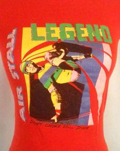 c85d3f93a7 vtg 80s soft thin Skate Skateboard Air Stall Legend T-Shirt don t choke