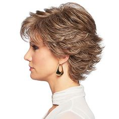 Short Wavy Hairstyles For Women, Short Hair Older Women, Short Layered Haircuts, Short Grey Hair, Gray Hair, Short Cut Wigs, Short Hair Wigs, Curly Hair Cuts, Curly Hair Styles