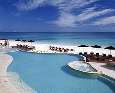 Quintana Roo, Riviera Maya, Playa del Carmen, Hotel Rosewood Mayakoba, Beachside pool