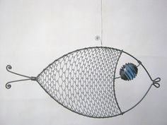 Wire Art Sculpture / Still Another Blue - Eyed Fish