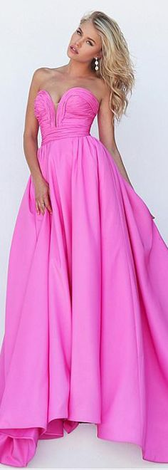 Simple Satin Sweetheart Neckline A-Line Prom Dresses With Pleats