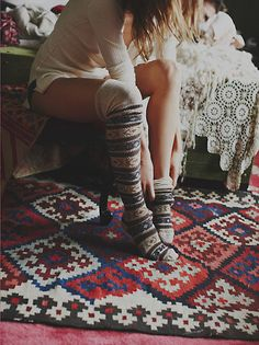 Anonymous + Free People Hunting Fairisle Tall Sock at Free People Clothing Boutique ★ ❥ #bohemian #boho #gypsy #fashion #model #photography #style #inspiration #tassels and #jewels #tropical #wild #hair #styling #charming #flirty #whimsical #sexy #swimwear #tribal #romantic #dresses #dreamy #artistic #enchanting #love #light #feminine #clothing