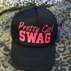 🎯SOLD🎯Pretty Girl Swag SnapBack cap Black and Pink Pretty Girl Swag Cap, never worn, great condition Accessories Hats