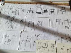 Ronin la chaise inspiration japonaise par Frederik Alexander Werner Woodworking Guide, Custom Woodworking, Woodworking Projects Plans, Teds Woodworking, Furniture Plans, Luxury Furniture, Furniture Design, Detailed Drawings, School Projects
