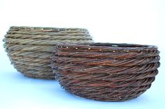 Willow rope coil baskets by Katherine Lewis, WA