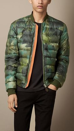 Burberry Brit Abstract Camouflage Print Blouson