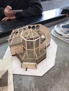 Conceptual Model Architecture, Folding Architecture, Architecture Model Making, Architecture Concept Drawings, School Architecture, Art And Architecture, Arch Model, Scenic Design, Design Model