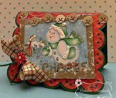 """ONECRAZYSTAMPER.COM: Cheers -by Natalie using High Hopes Stamps """"Jingle Jangle"""" (TT048)"""