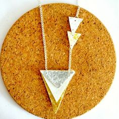 If you are looking for an easy-to-make and fun DIY necklace project, then this Glittery Geometric DIY Necklace is just for you. This DIY jewelry tutorial teaches you how to make a necklace by using fabric, Mod Podge, and chain.