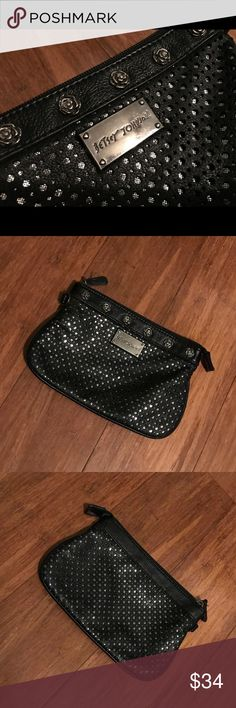 Betsey Johnson Clutch Black Betsey Johnson Clutch Excellent condition  Make an offer Betsey Johnson Bags Clutches & Wristlets
