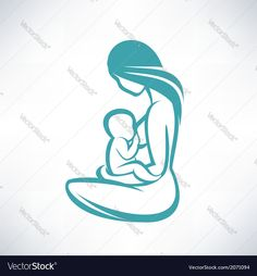 Vector image of Mother breast feeding her baby Vector Image, includes love, sketch, icon, outline & nature. Illustrator (.ai), EPS, PDF and JPG image formats.