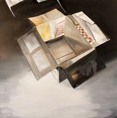 My old workshop in a box. Projection. Memory. Prokisch dani. Oil painting on canvas. 2013.