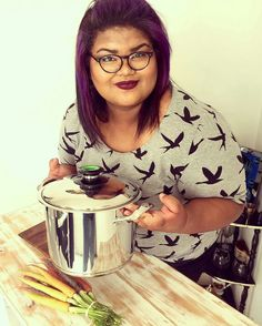 "Reposting @fadzonair:  ... ""I am such a foodie nerd. A massive thank you to @bitsofcarey and @amc_cookware for my beautiful giant! I absolutely love it and finally hassled my mom into making her winning Cape Malay lamb curry 💜. Oh and yes I'll defs be sharing her recipe on @thecurvyjournal soon 😉. 📷 by @kirahheartsfilm  Makeup done by @carolyn_brophy from @vandawaterfront @maccosmetics  #TheCurvyJournal #BitsOfCarey#LoveToCook #CapeMalay #InstaEatsCapeTown #InstaEatsSouthAfrica… Lamb Curry, Family Album, Cookware, Cape, Nerd, Mom, Makeup, Recipes, Beautiful"