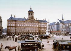 Dam Square around 1900, Amsterdam. #greetingsfromnl