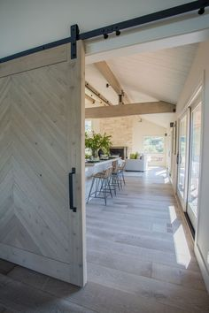 Cindy Hattersley Designed Contemporary Tree House in Carmel Valley. Redesigned and Configured Carmel Valley Home with a View. Carmel Valley, Open Plan, Home Decor Inspiration, Living Room Furniture, Family Room, Interior Design, Barn Doors, Outdoor Decor, Projects