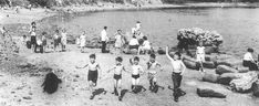 Youngsters having fun at Oglet in the 1950s