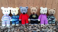 Ravelry: free #crochet pattern, Pajama Bear pattern by KellzBellz Creations, amigurumi, stuffed toy, #haken, gratis patroon (Engels), teddy beer, knuffel, speelgoed, #haakpatroon