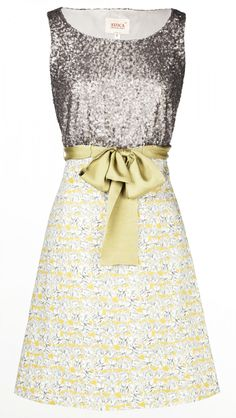 Avoca Glamorous Sequin Dress combined with Liberty Fabric