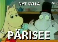 Vainmuumijutut Finnish Memes, Cool Pictures, Funny Pictures, Funny Pick, Tove Jansson, School Quotes, Moomin, Im Trying, Reaction Pictures