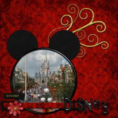 Disney Scrapbook page ideas