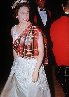 Queen Elizabeth dancing at Balmoral many moons ago.
