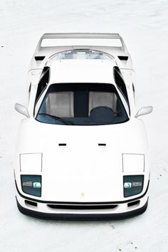 "fullthrottleauto: ""Ferrari F40 at Bonneville Salt Flats by Gil Folk (#FTA) """