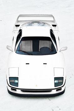 "fullthrottleauto: ""Ferrari F40 at Bonneville Salt Flats by Gil Folk (#FTA) """