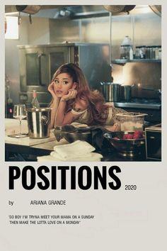 Ariana Grande Lyrics, Ariana Grande Photos, Room Posters, Poster Wall, Vintage Music Posters, Ariana Grande Wallpaper, Photo Wall Collage, Album Songs, Minimalist Poster