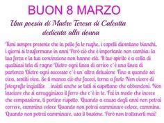 8 Marzo (Poesia di Madre Teresa di Calcutta)